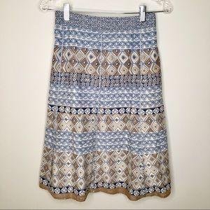 Sigrid Olsen Geo-Print Skirt